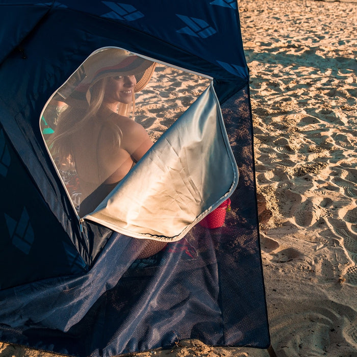 CGEAR Beach Umbrella - Navy | Sand Free Weave Technology | Waterproof Resistant