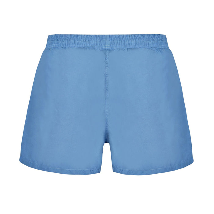 'JUST NATURE Men's Blue Swim Shorts | Classic Fit | 100% Polyester