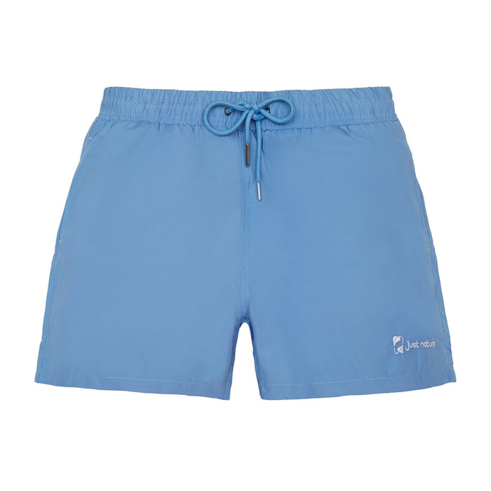JUST NATURE Men's Blue Swim Shorts | Classic Fit | 100% Polyester