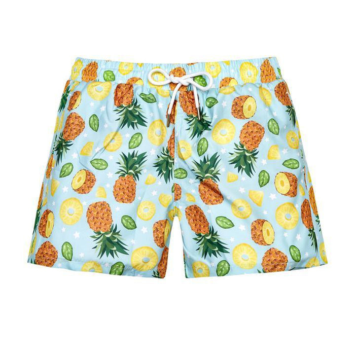 JUST NATURE Men's Swim Shorts - Pineapple World | Classic Fit | 100% Polyester