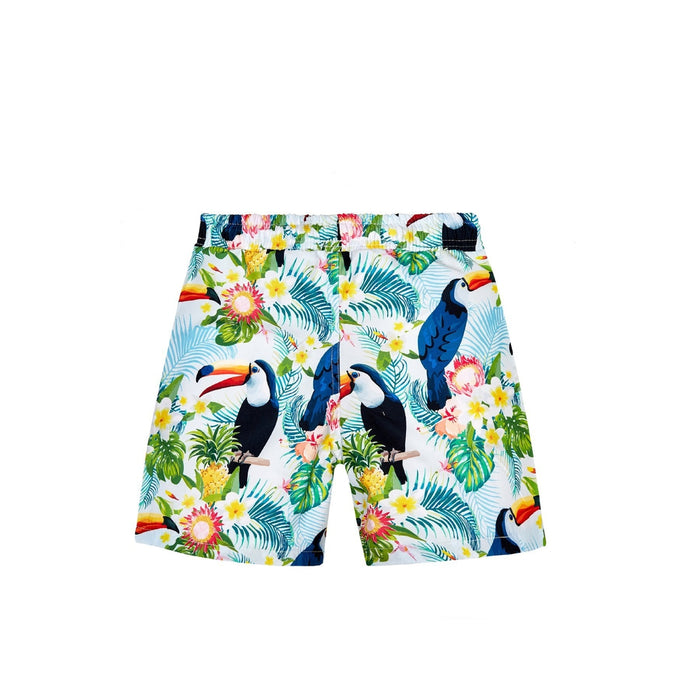 JUST NATURE Boy's Swim Shorts - Toucan Forest | Classic Fit | 100% Polyester