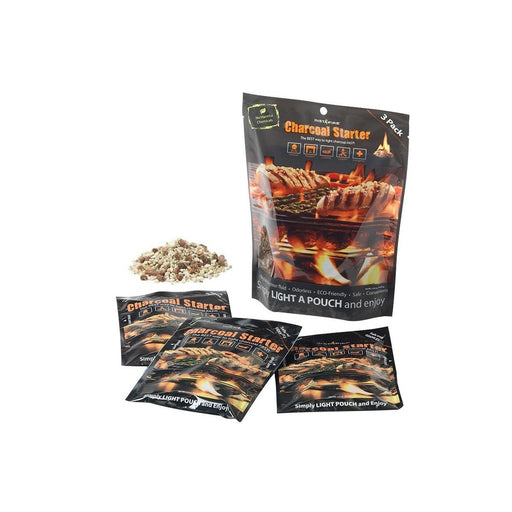 INSTAFIRE Charcoal Starter 3 Pack | Non-Volatile | Lights Up To 75 Charcoal Briquettes