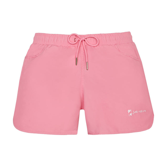 JUST NATURE Women's Pink Swim Shorts | Classic Fit | 100% Polyester