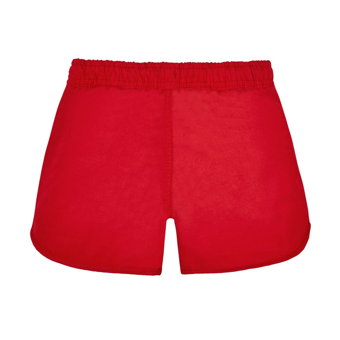 JUST NATURE Women's Red Swim Shorts | Classic Fit | 100% Polyester