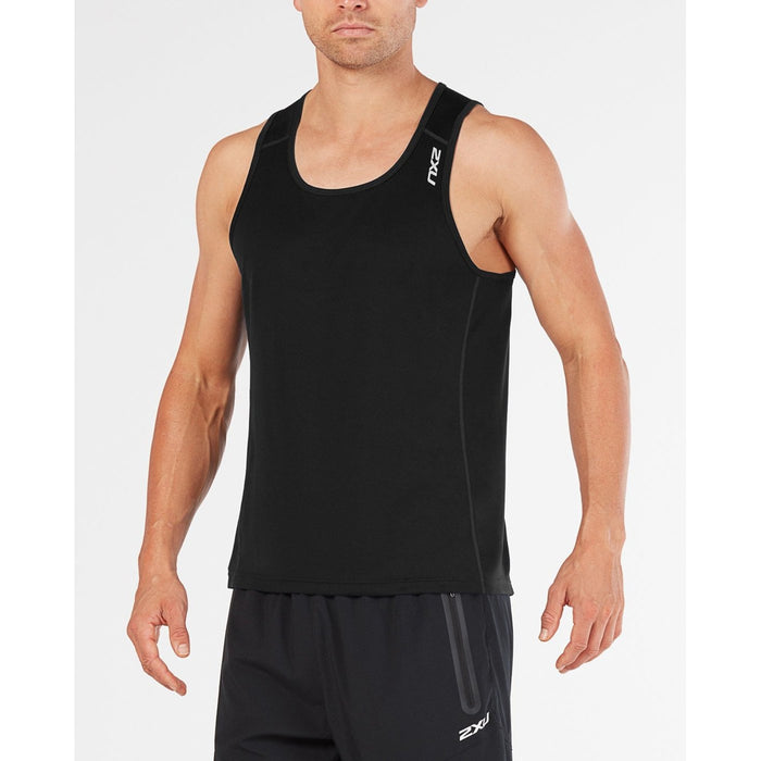2XU Men's Bsr Active Singlet | Moisture Management Technology | Chafe-Free Flatlock Seam Construction
