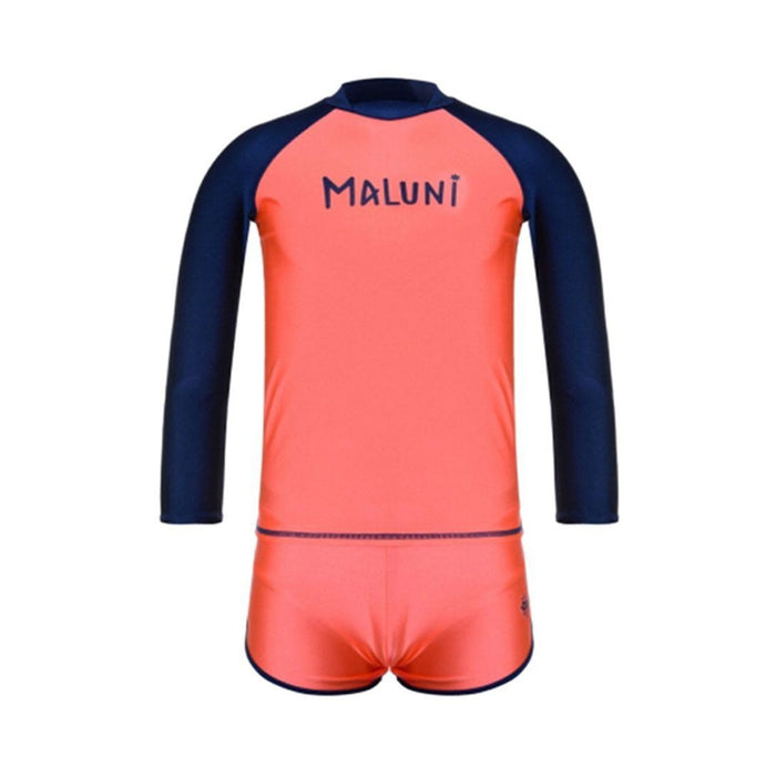 MALUNI Girl's Gurgle - Rose/Navy | Quick Dry And Chlorine Resistant | Nylon 82% Spandex 18%