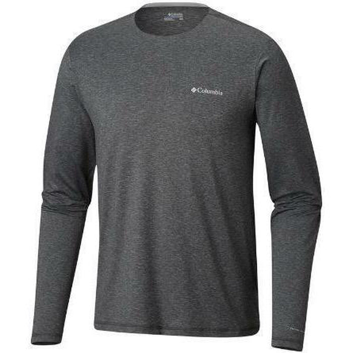 COLUMBIA Men's Tech Trail Long Sleeve Crew Tees - OmniWick™ Omni-Shade™ | 88% Polyester, 12% Elastane