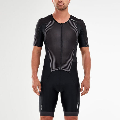 2XU Men's Perform Full Zip Sleeved Trisuit - Powerful and Durable Support | Aerodynamics and Ventilation Technologies | Polyester and Elastane