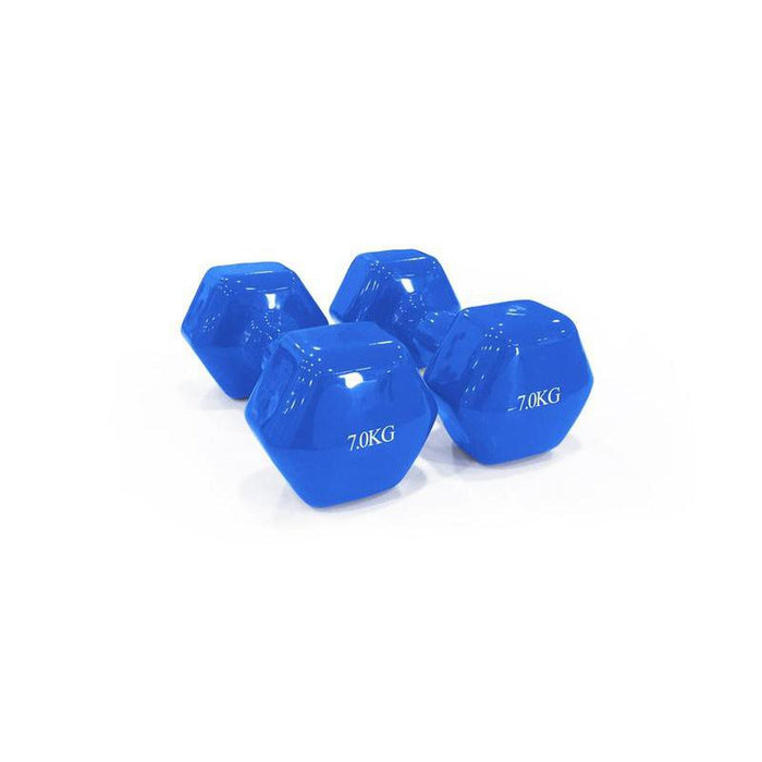 DAWSON SPORTS Vinyl Dumbbell - 7Kg | Perfect Tool For Muscle Recovery And Exercising | Durable PVC Coating