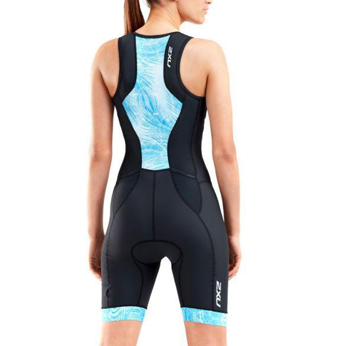 2XU Women's Perform Front Zip Trisuit - Advanced Muscle Support | Aerodynamics and Ventilation Technologies | Polyester and Elastane