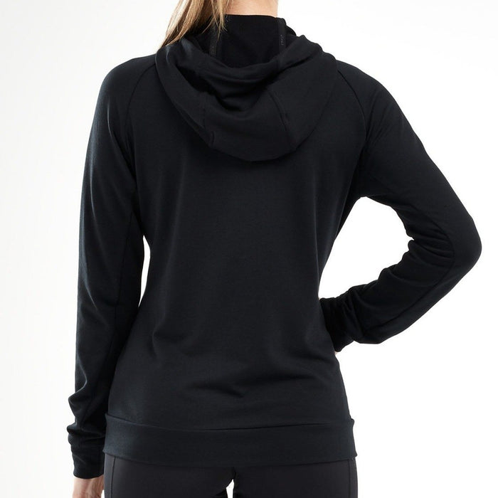 2XU Women's Transit Zip Hoodie - Black | DRI-RELEASE Technology | Pill And Wrinkle Resistant