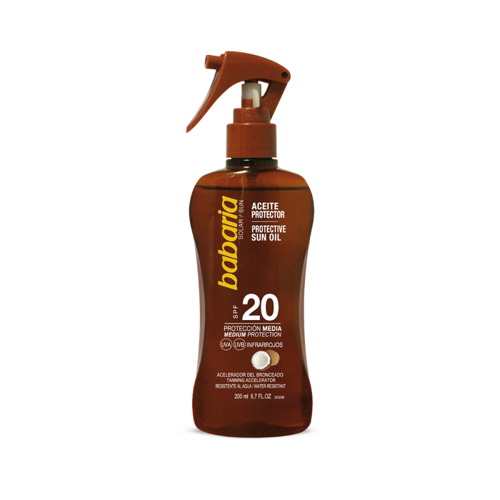 BABARIA Spf 20 Tan Oil Spray 200ML