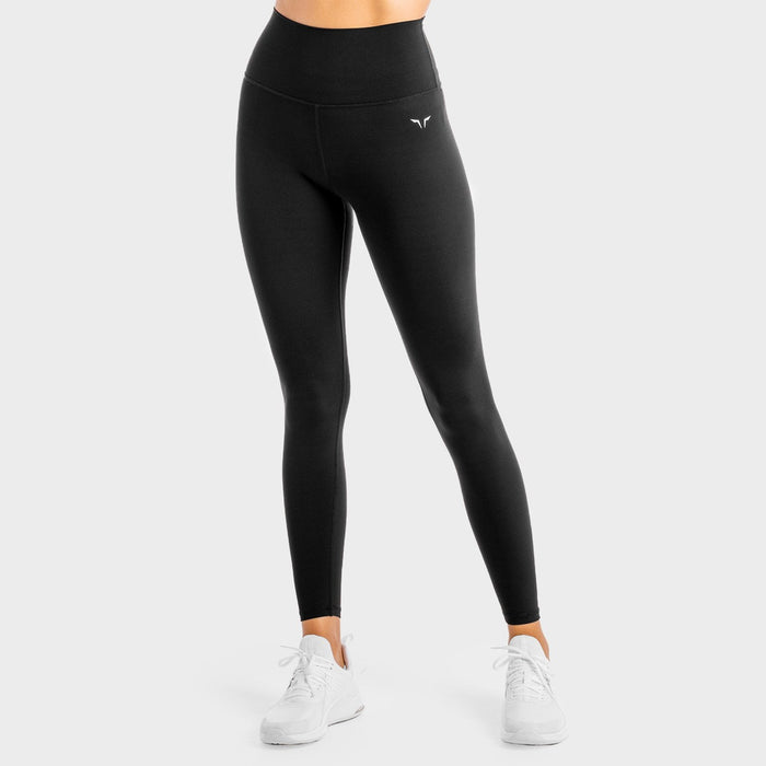 SQUAT WOLF Women's Core Agile Leggings Small - Onyx | Mid-weight Fabric | 74% Nylon and 26% Spandex