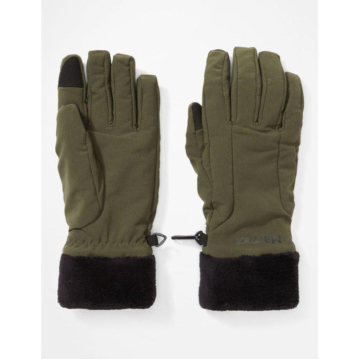 MARMOT Women's Wm'S Fuzzy Wuzzy Glove | Stretch fabric | Durable Water-Repellent | High-loft fleece lining | Touchscreen compatible