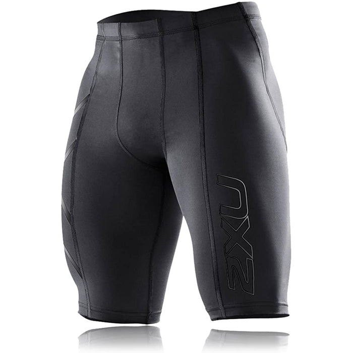 2XU Men's Compression Short - Antibacterial + Moisture Wicking | Support to the Major Upper Leg Muscles | 72% Nylon 28% Elastane