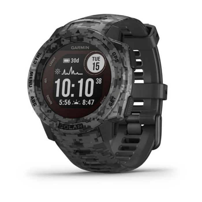 GARMIN Instinct Solar Tactical Edition Gps Watch | Military Standard 810 | ABC Sensors | Wrist Based Hearth Rate