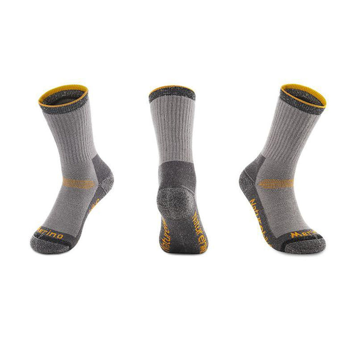 NATUREHIKE Thin Merino Wool Socks - Grey/Yellow | Quick-Drying | 80% Merino Wool Material