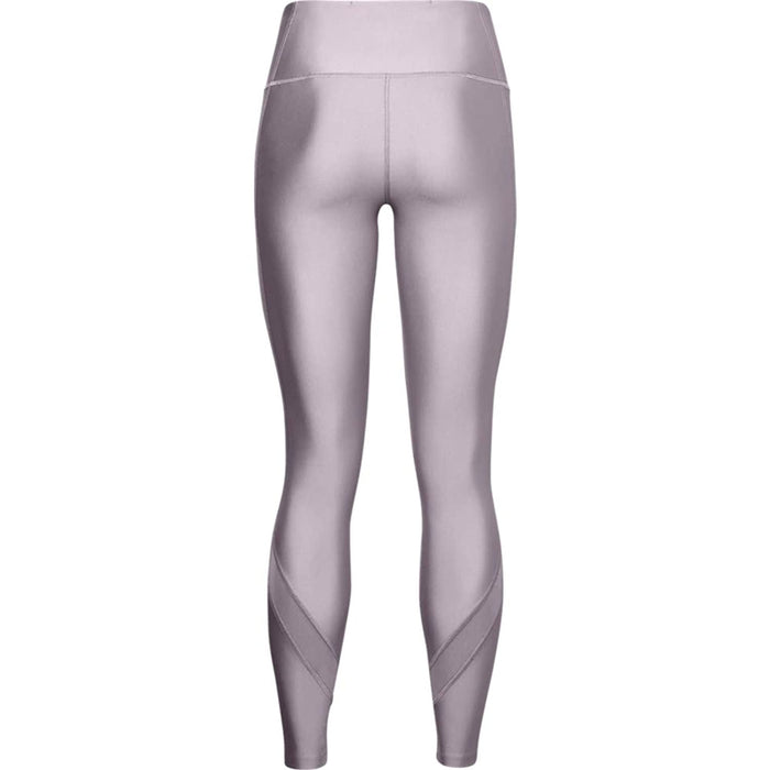 UNDER ARMOUR Women's UA HeatGear Armour Wordmark Legging - Slate Purple/Halo Grey |