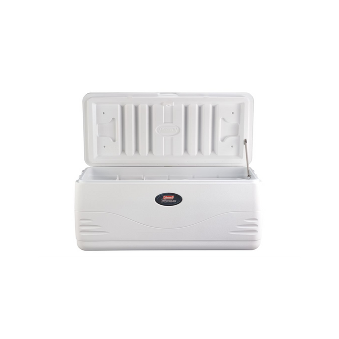 COLEMAN 150 Quart Marine - White | Keeps The Ice!™ Up To 5 Days | Have-A-Seat™ Lid Supports Up To 250 Lbs