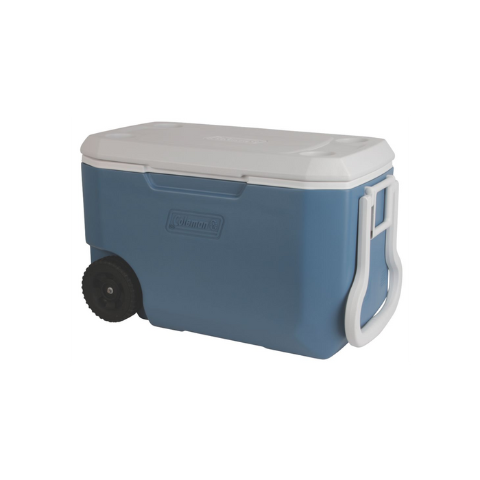 COLEMAN 62 Qt Xtreme Wheeled - Blue | 5-Day Ice Retention | Have-A-Seat™ Lid Supports Up To 250 Lbs