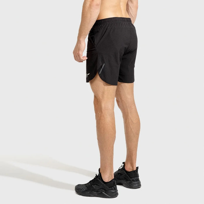 SQUAT WOLF Men's Dry Tech Shorts Small - Black | Superb Moisture Management | Polyester/Nylon/Elastane