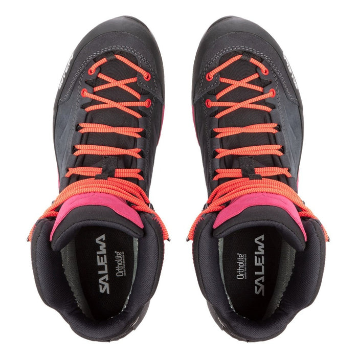 SALEWA Women's Mountain Trainer Mid Goretex - Asphalt/Sangria
