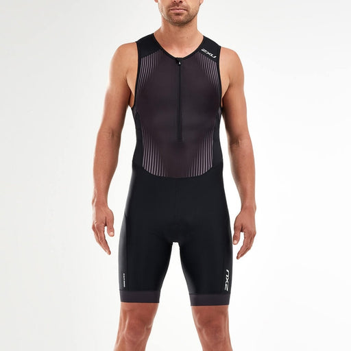 2XU Performance front zip trisuit Men's - Black / Shadow