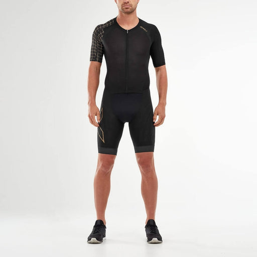 2XU Comp full zip sleeved trisuit - Black / Gold