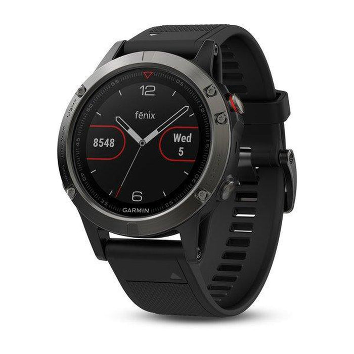GARMIN Fenix 5 - Slate Grey | Chemically Strengthened Glass | Stainless Steel