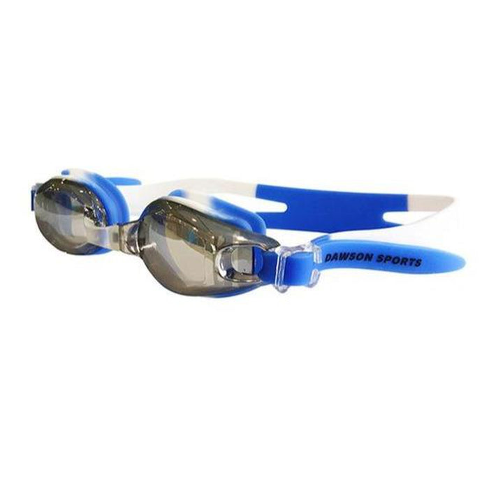 DAWSON SPORTS Junior Goggles - Blue/White | Anti-Fog Lenses | Adjustable Silicone Head Strap