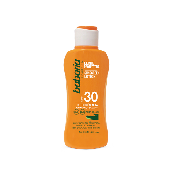 BABARIA SPF 30 Aloe Lotion 100ML | Protection against UVA,UVB & Infrared Radiation | Water-Resistant
