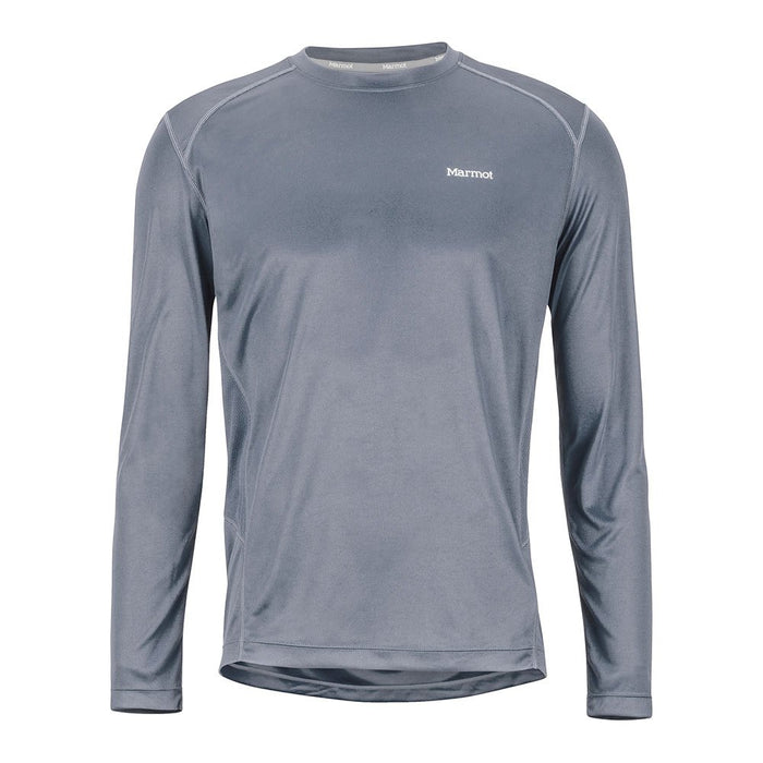 MARMOT Men's Windridge Ls | Steel Oynx |  Mesh side panels improve airflow | Lightweight, breathable, and moisture-wicking performance knit