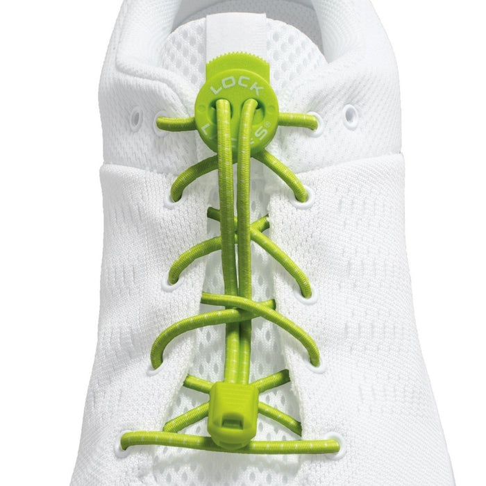 NATHAN Lock Laces - Green | No-Tie Lacing System | Elastane Blend