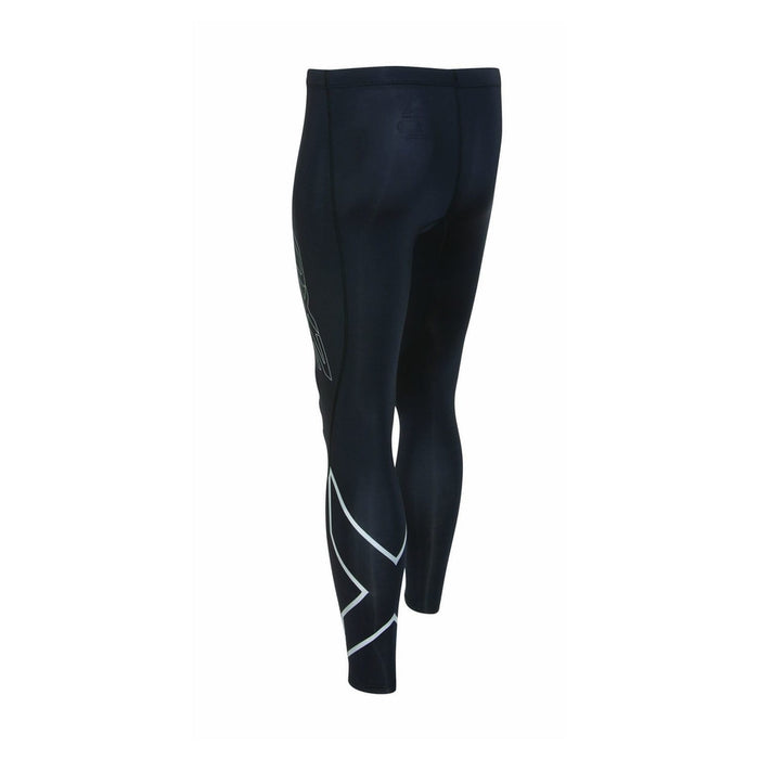 2XU Men's Hyoptik Compression Tights | Protect Key Leg Muscles | High Filament Yarns