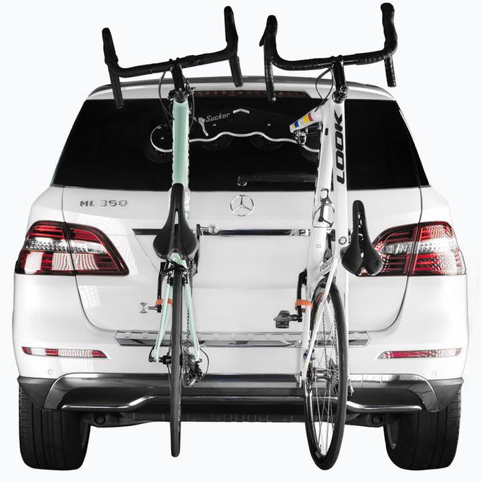 SEASUCKER Mini Bomber Rack - Black | 3/4 Inches Thick High-density Polyethylene | Holds 2 Bicycles