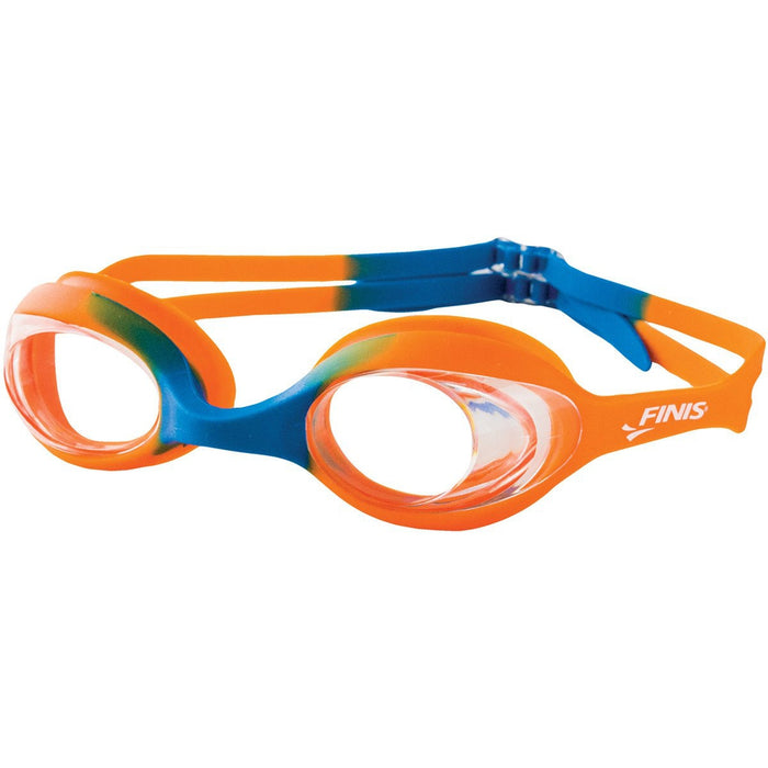 FINIS Women's Swimmies Goggles - Orange Blue/Clear | Anti-fog | Durable Polycarbonate Lenses