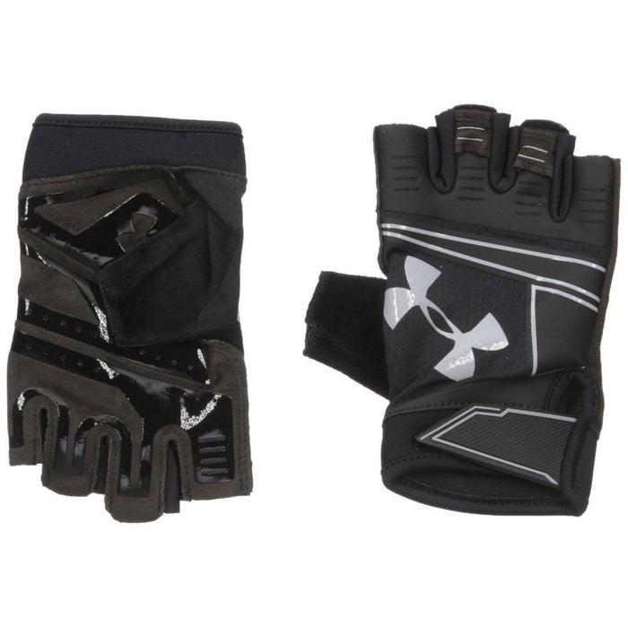 UNDER ARMOUR Men's Coolswitch Flux Gloves - Black | Terry Cloth Thumb Panel | 80%Polyester/10% Cotton/10% Silicone