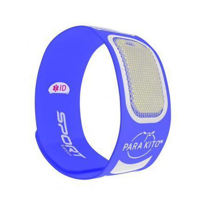 PARAKITO Sports Wristband - Blue | Patented Pellet Technology | DEET Free