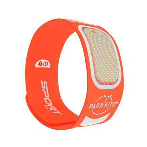 PARAKITO Sports Wristband - Orange | Patented Pellet Technology | DEET Free