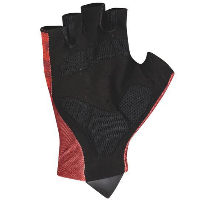 SCOTT RC Team Short Finger Glove Extra Large - Fiery Red/Dark Grey | Light Padding | Pull-off System