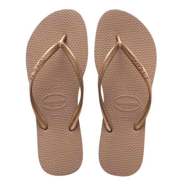 HAVAIANAS Women's Slim - Rose Gold | Rubber Sole | Non-slip
