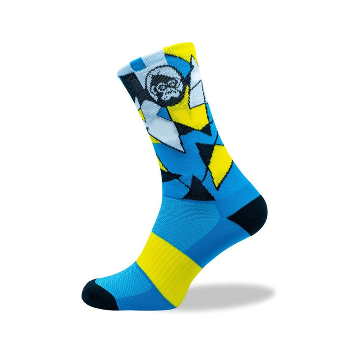 GRUMPY MONKEY Tuxedo Yellow (8-12 UK) | Premium Performance | Arch Support Strip