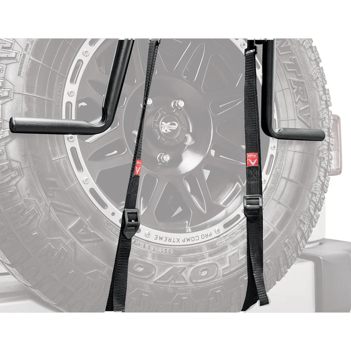 ALLEN RACK Deluxe 2 Bike Spare Tire Rack - Black | Heavy Duty Construction | Up To 70 Pounds