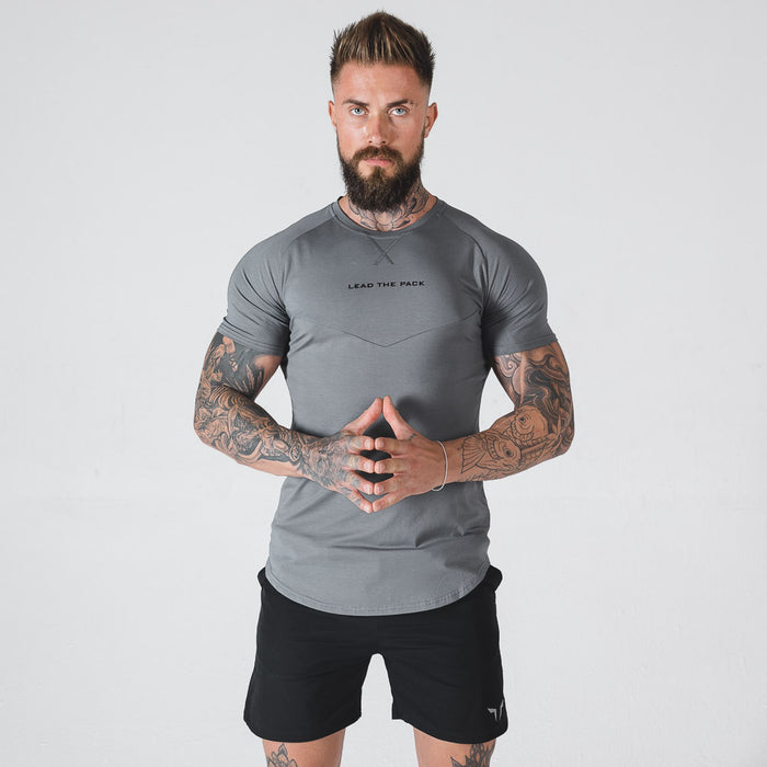 SQUAT WOLF Men's Statement Tee Extra Large - Stone | Ultimate Sweat-Absorption | 65% Cotton 35% Polyester 5% Spandex