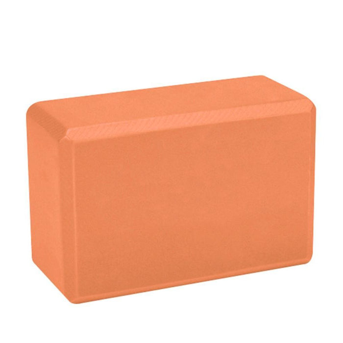 JUST NATURE Orange Yoga Block | Slip-Resistant Surface | High-Density Foam