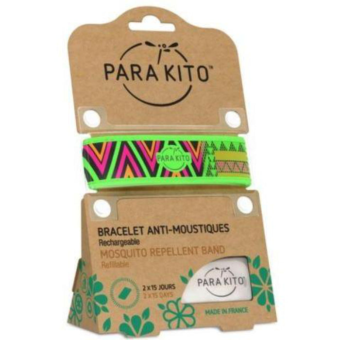 PARAKITO Wristband Green Inca | Patented Pellet Technology | DEET Free