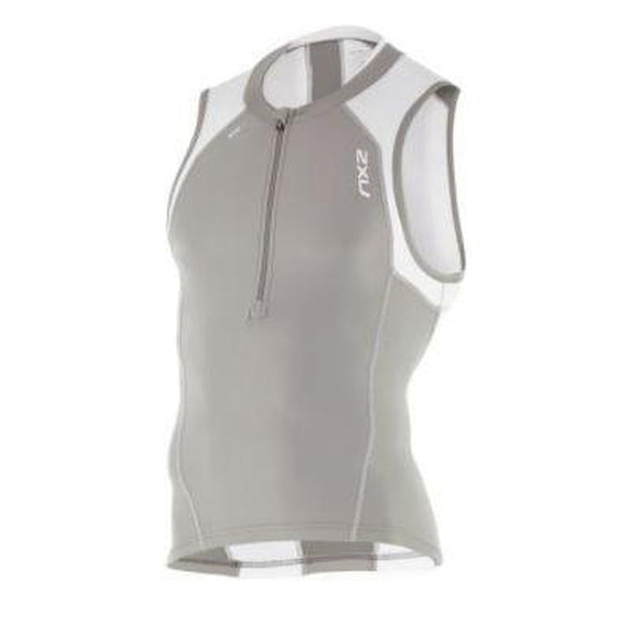 2XU Men's Compression Tri Singlet -  Reduces Muscle Fatigue and Damage | Improves Circulation | 83% Nylon 17% Elastane