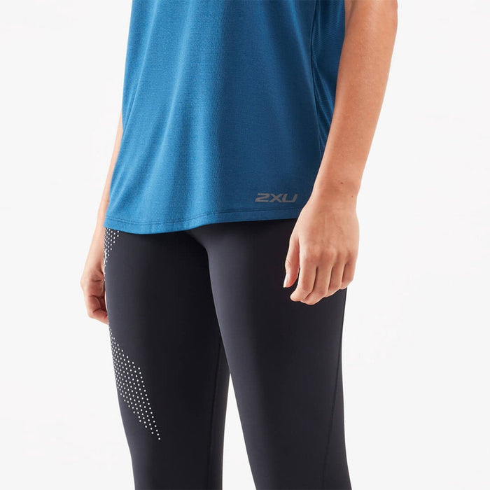 2XU Xvent G2 Singlet - Poseidon/Silver Reflective | Antibacterial And Anti-Odour Technology | 100% Polyester
