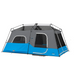 CORE EQUIPMENT 9 Person Lighted Instant Cabin Tent - Grey/Blue | 9 Person Capacity | Durable 68D Polyester