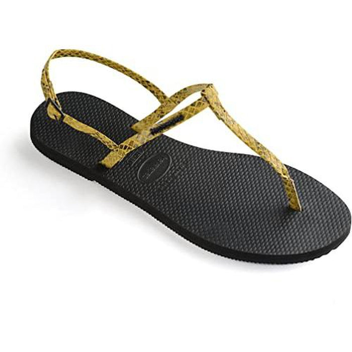 HAVAIANAS Women's You Riviera Croco - Yellow | Rubber Sole | Non-Slip